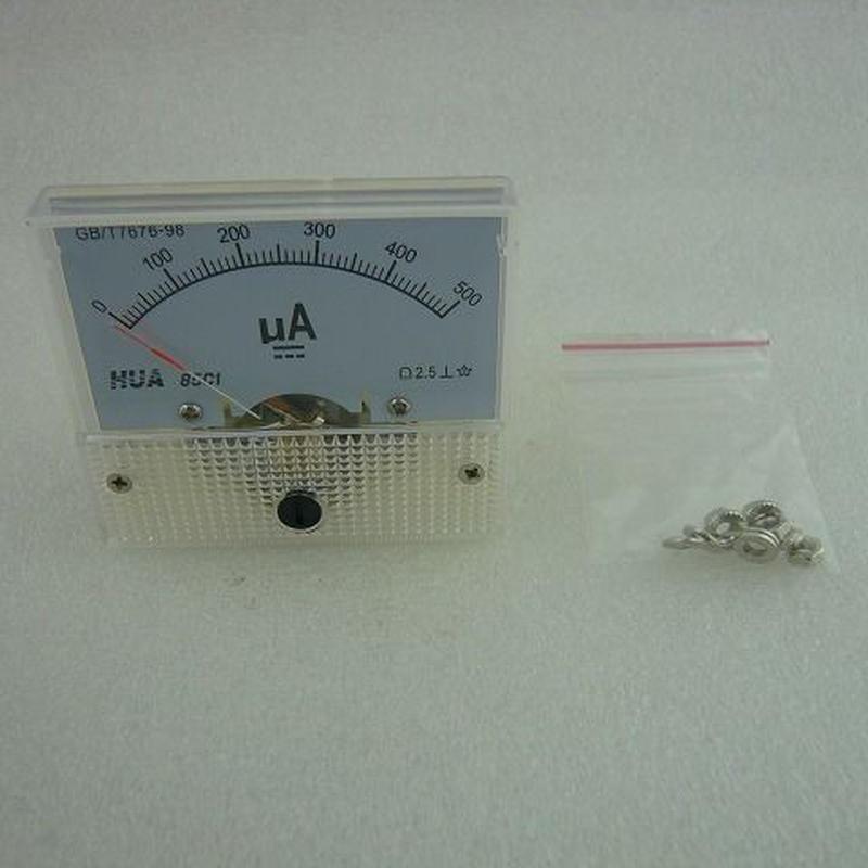 直流電流計 500μA ( DC 500μA METER )