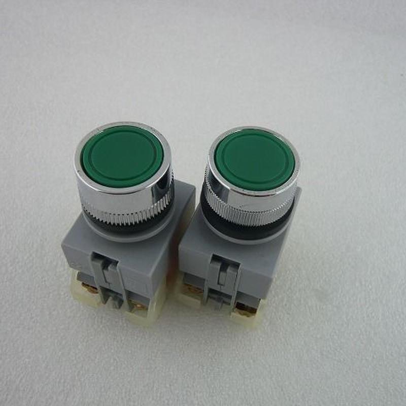 Φ22 プッシュボタンスイッチ 緑色2個 JUNK(PUSH BOTTON SWITCH JUNK)