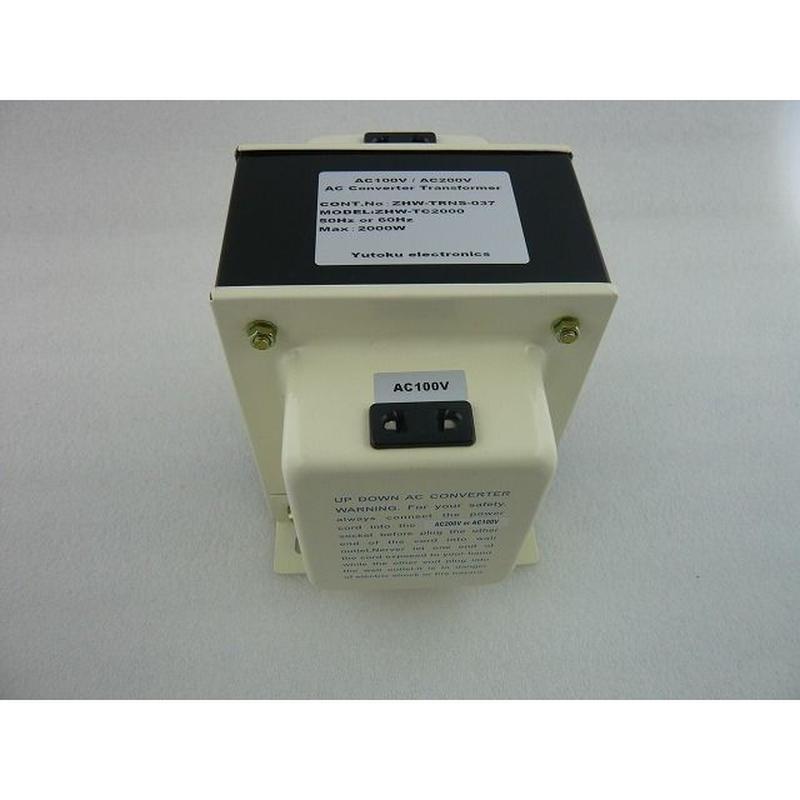 電源トランス ZHW-TC2000 ( AC100V - AC200V  2000VA )