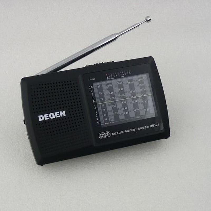 ワイドFM受信可能  DEGEN  DSP  WORLD BAND RADIO     ZHW-DE321-DEGEN