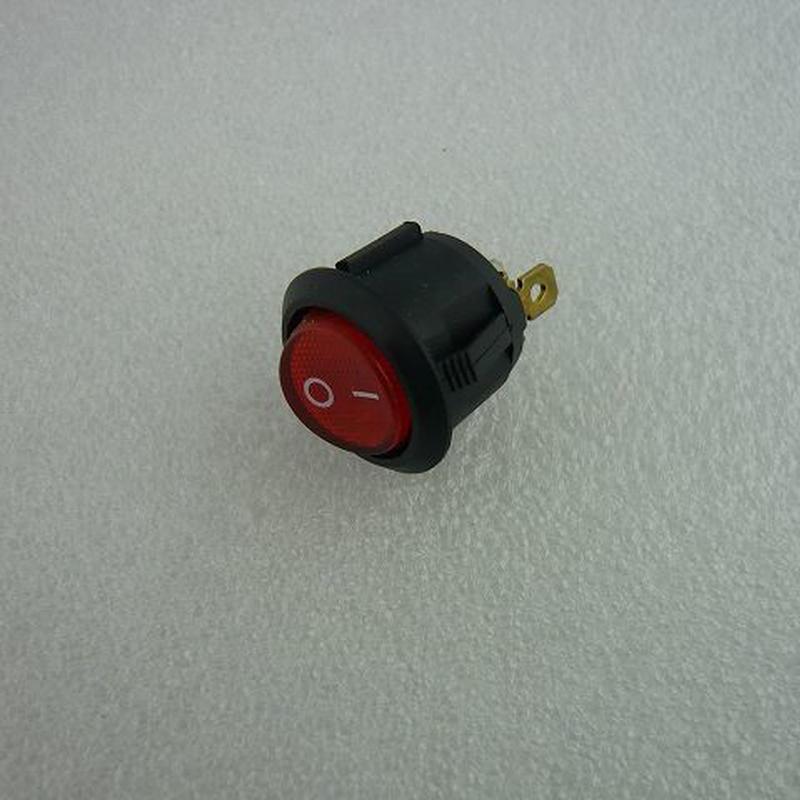 船型ロッカースイッチ 赤 (ネオン管付) 2pcs/セット