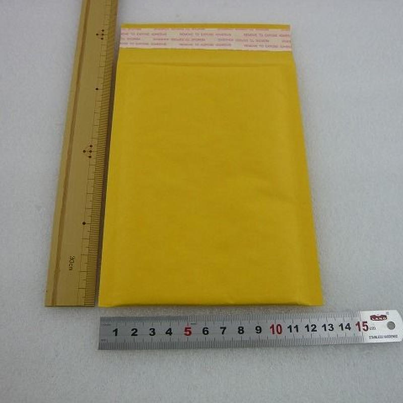 170×130mm プチプチ封筒 黄色 ( 封かん粘着テープ付 ) 5枚組