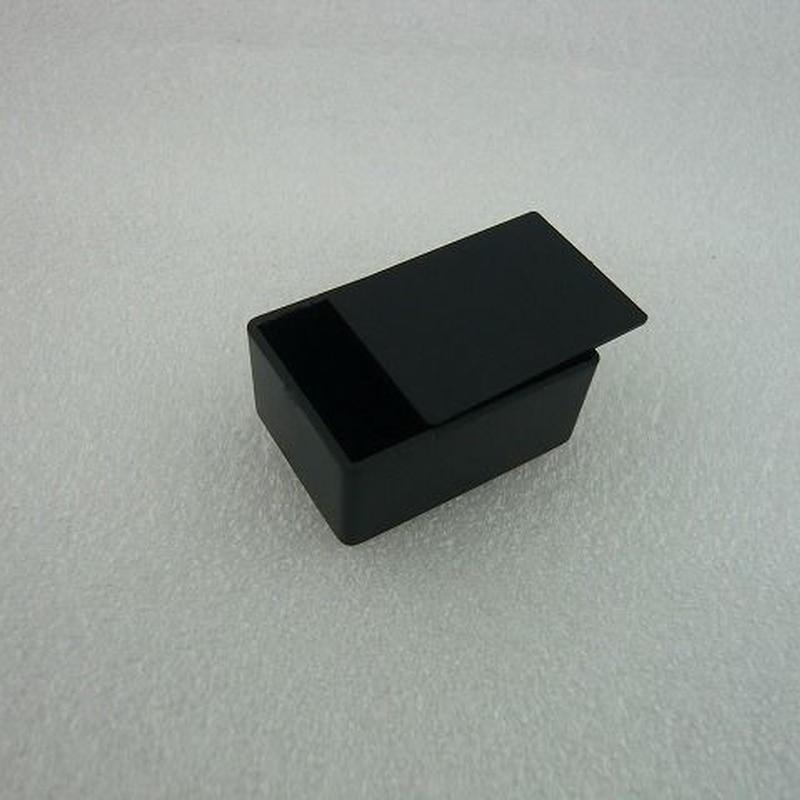 MINI PLASTIC CASE  36.5×26.5×16.5 mm    色:黒  2個パック