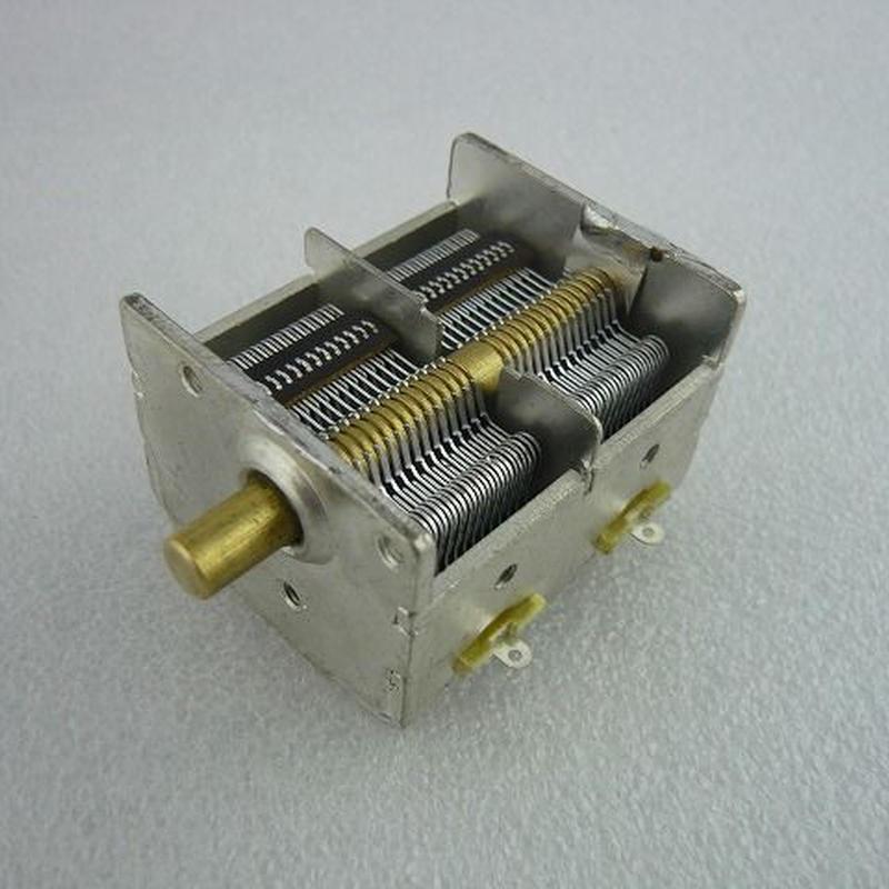 2連エアーバリコン ( Twin Air Variable Capacitor )