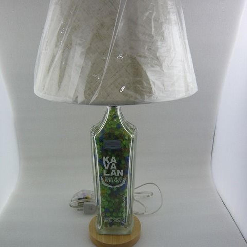 KAVALAN (カバラン)透明   ボトルランプスタンド (  KAVALAN SKELETON BOTTLE  LAMP  STAND )
