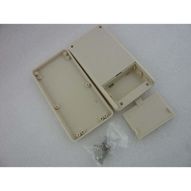 電池端子付き  PLASTIC CASE  135×70×24 mm    色:白(クリーム色)