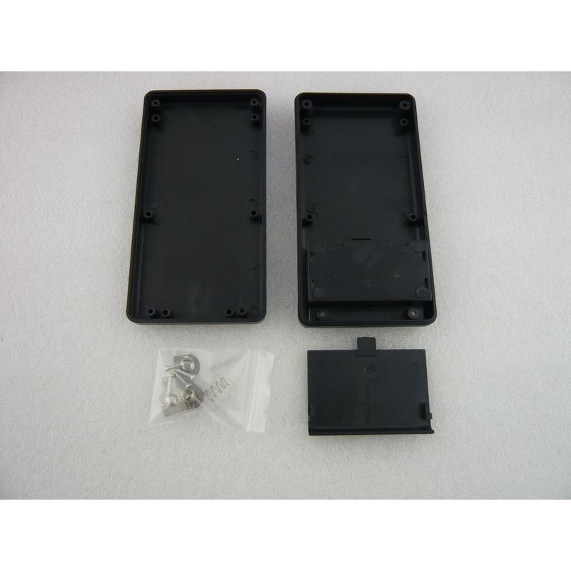 電池端子付き  PLASTIC CASE  135×70×24 mm    色:黒