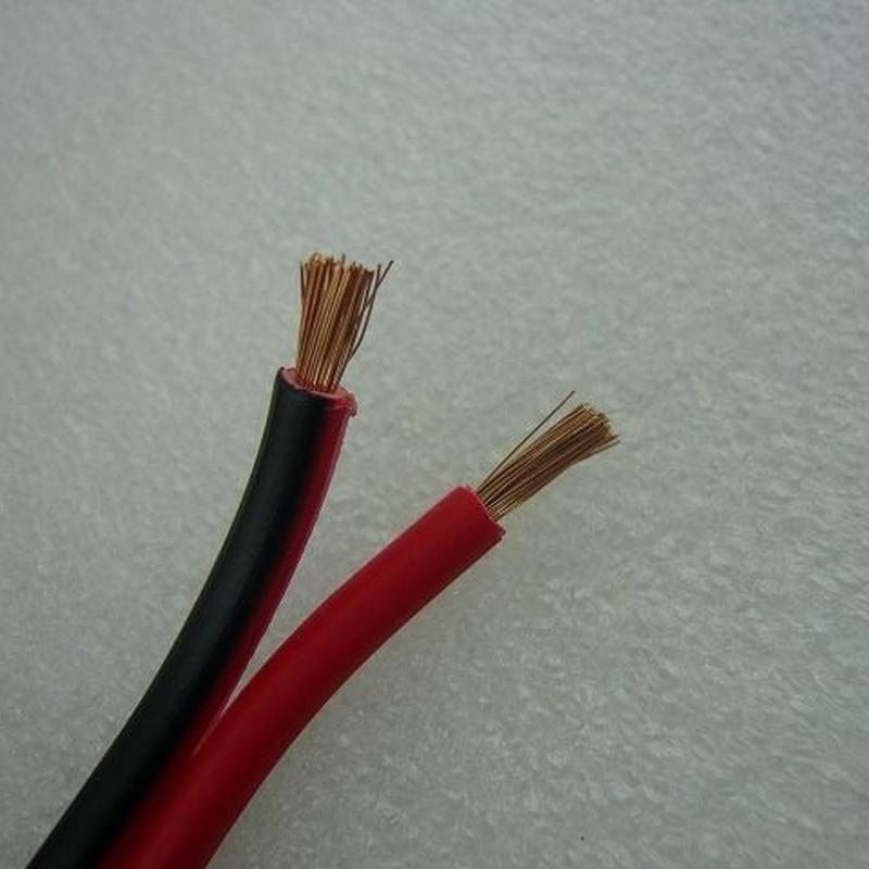 赤黒平行線 DC POWER ケーブル 2.5㎟  定格電流:10.5A  1m=140円