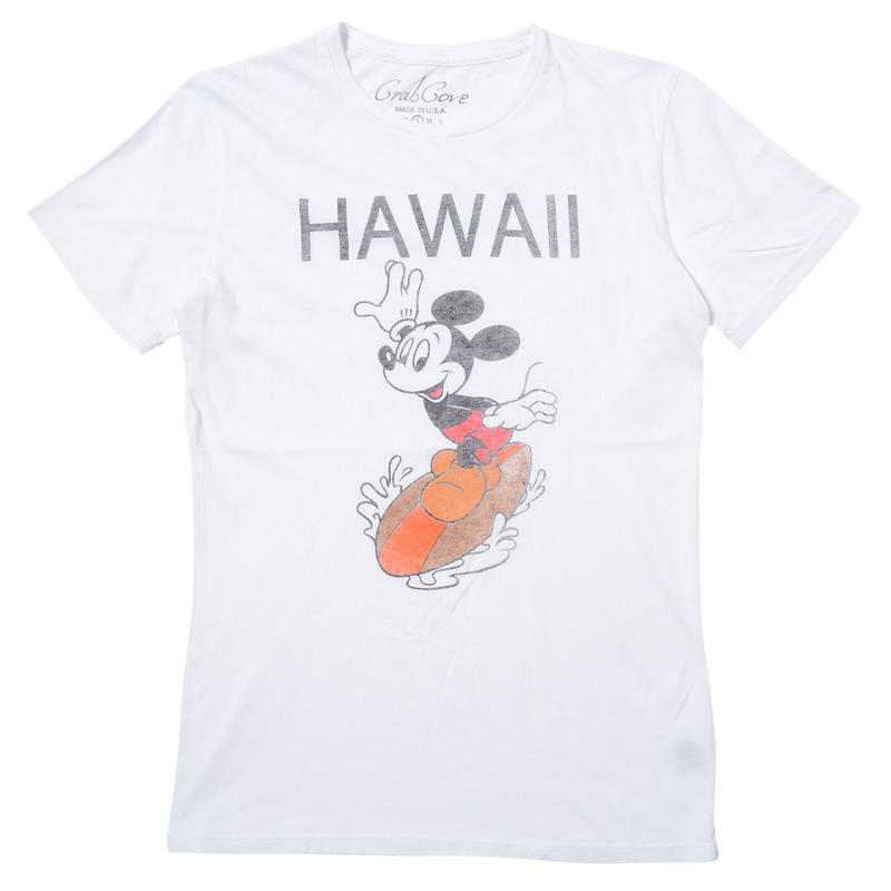 HAWAII MICKEY SURF TEE (WHITE)No.099