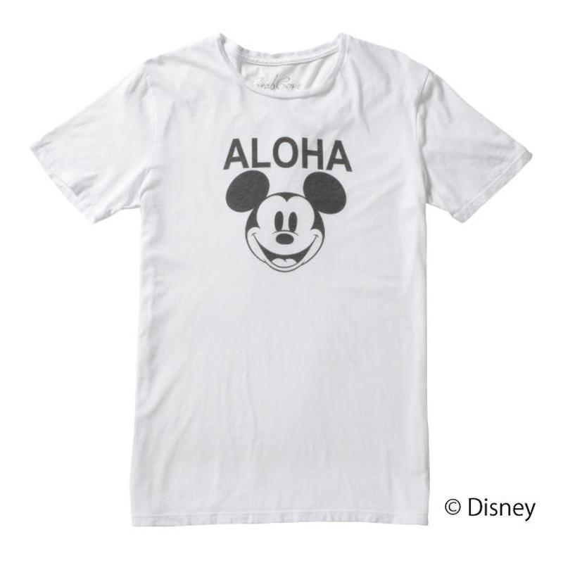 <MICKEY MOUSE> ALOHA TEE (WHITE) No.139