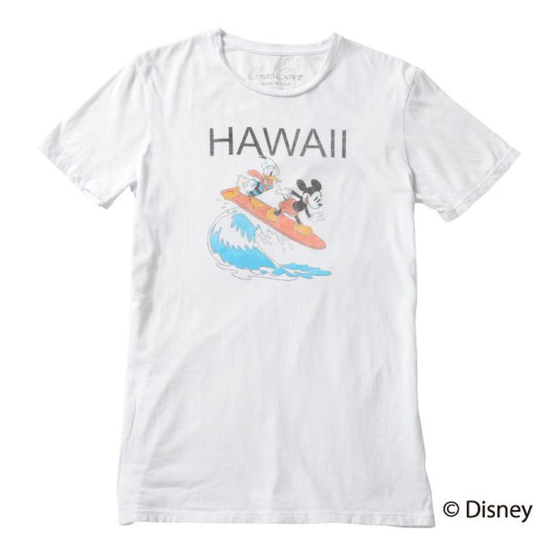 <MICKEY MOUSE & DONALD> HAWAII TEE(WHITE)No.138