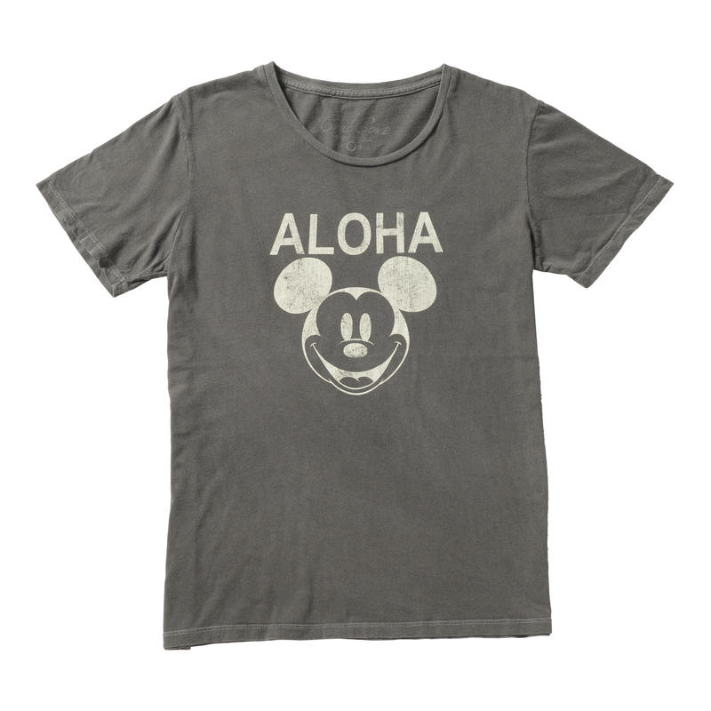 ALOHA MICKEY TEE (BLACK) No.139