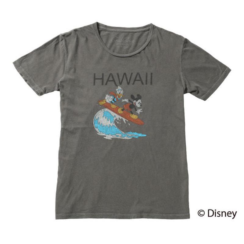 <MICKEY MOUSE & DONALD> HAWAII TEE (BLACK) No.138