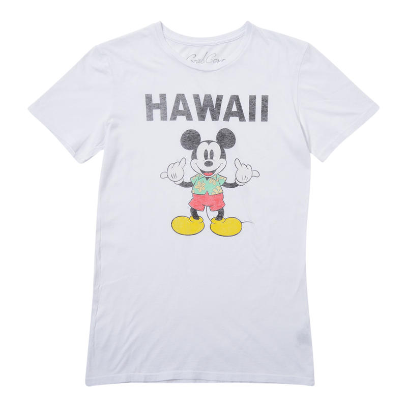 HANG LOOSE MICKEY TEE   (WHITE)No.118