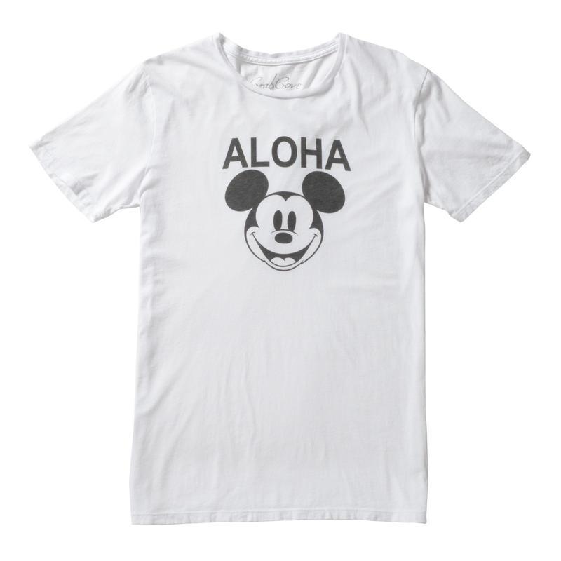 ALOHA MICKEY TEE (WHITE) No.139