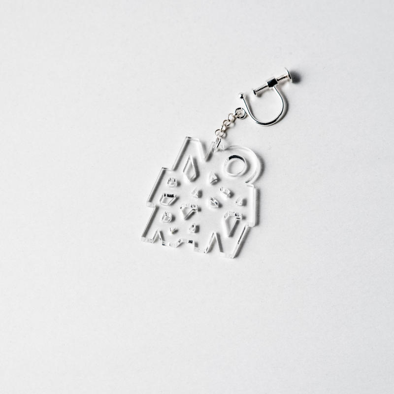 [SALE] [展示品] Earring: No Pasaran by Kitayama Masakazu (clear)