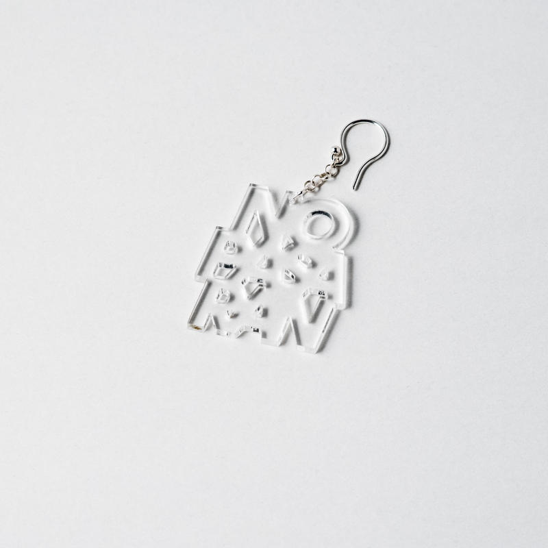 [SALE] [展示品] Pierced Earring: No Pasaran by Kitayama Masakazu (clear)