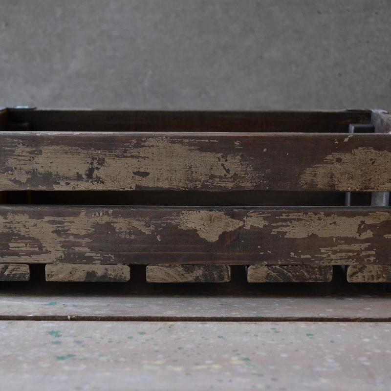 ウッドボックス M(ivory dark walnut)