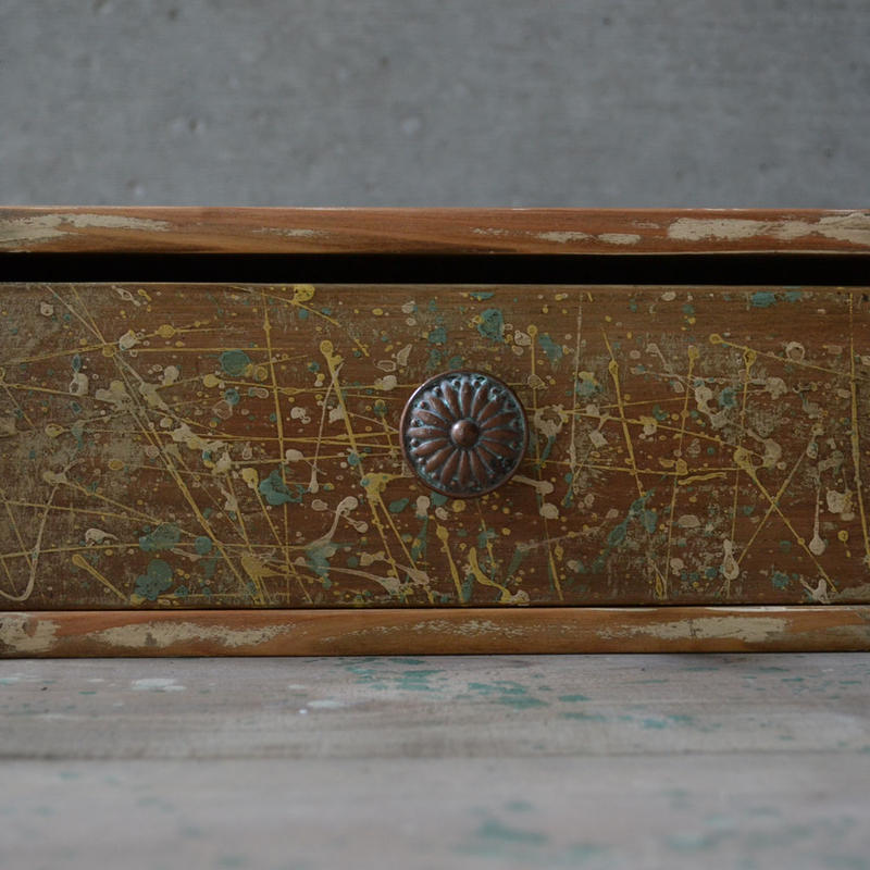 ワン- ドロワーボックス c(dripping midium brown)