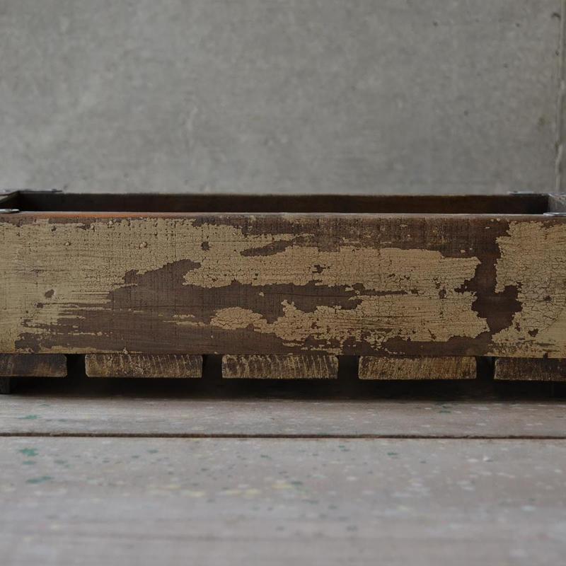ウッドボックス S(ivory dark walnut)