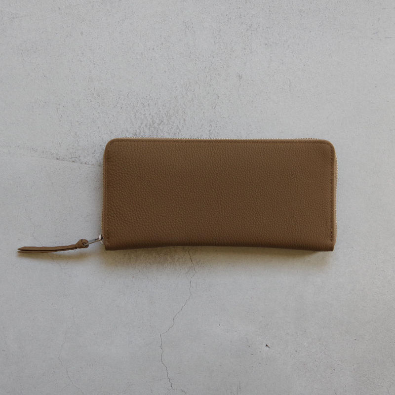 ERA. / BUBBLE CALF ROUND SLIM WALLET / col.トープ