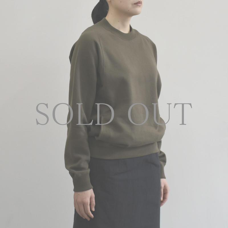 THE HINOKI / オーガニックコットン裏起毛スウェットシャツ / col.フォレスト  / size 1 / Lady's