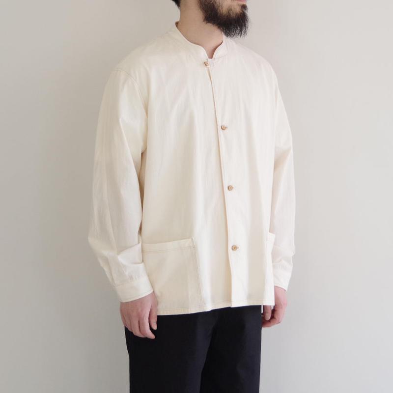 THE HINOKI / コットンボイルパラシュートクロス スタンドアップカラーシャツ / col.ナチュラル