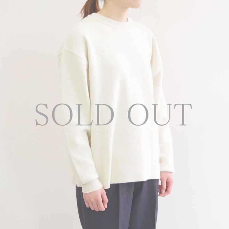bunt / COTTON CREW NECK SWEATER / col.ホワイト /  size 2 / Lady's