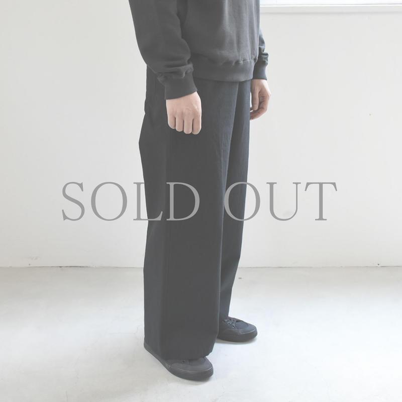 THE HINOKI / コットンウールの馬布のワイドパンツ / col.ブラック