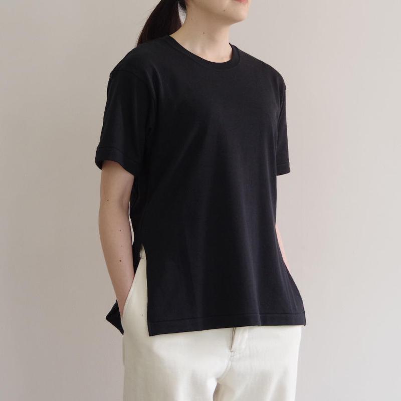 THE HINOKI / オーガニックコットンハーフスリーブTシャツ / col.ブラック / Lady's