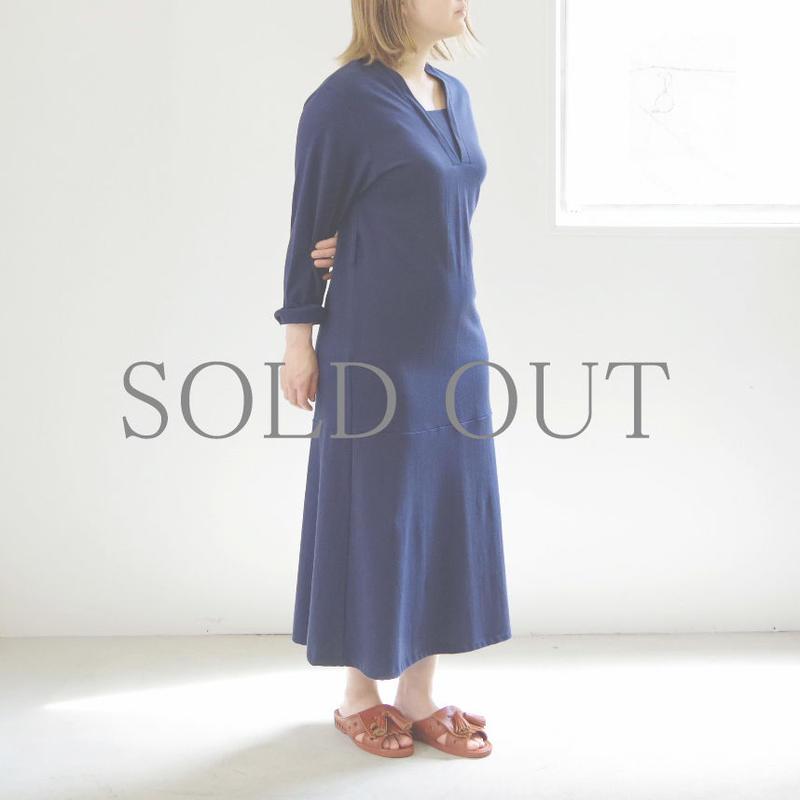 THE HINOKI / オーガニックコットンレイヤードカラードレス / col.ネイビー / size 1