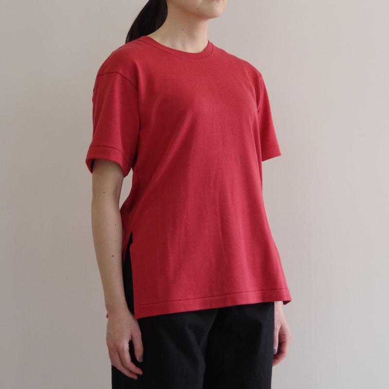 THE HINOKI / オーガニックコットンハーフスリーブTシャツ / col.レッド / Lady's