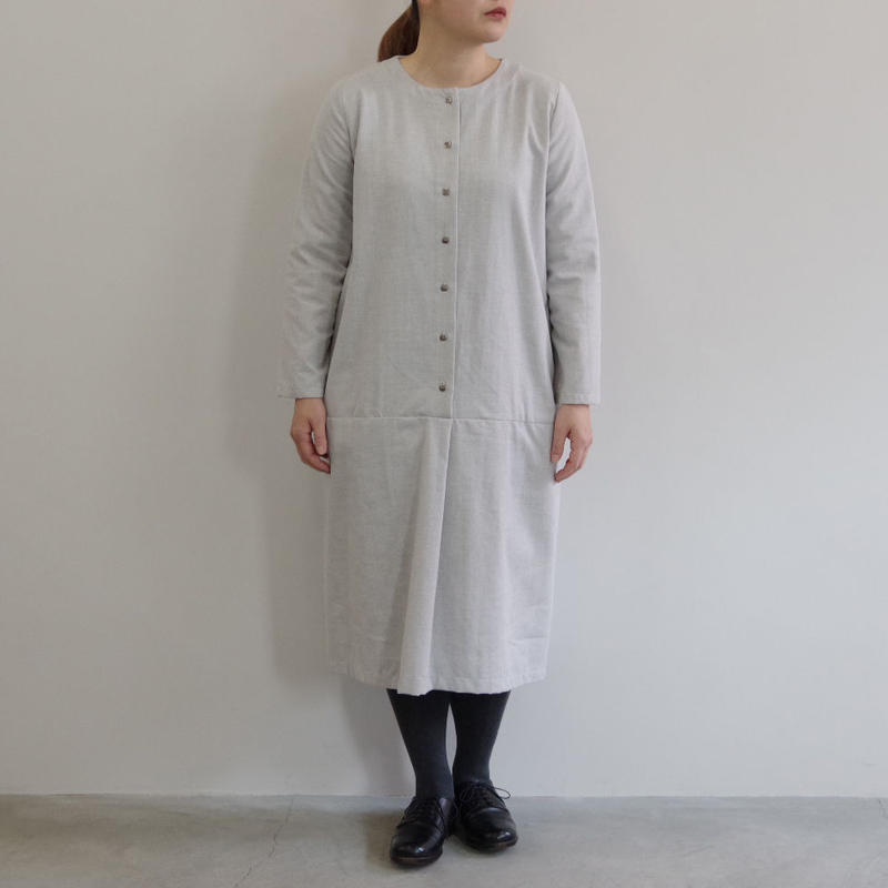 Worke's nobility  / Loose Dress(コットンウール長袖ワンピース)/ col.グレー