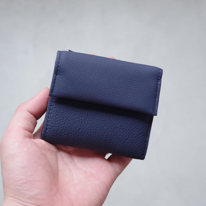 ERA. / BUBBLE CALF MINI WALLET / col.ネイビー