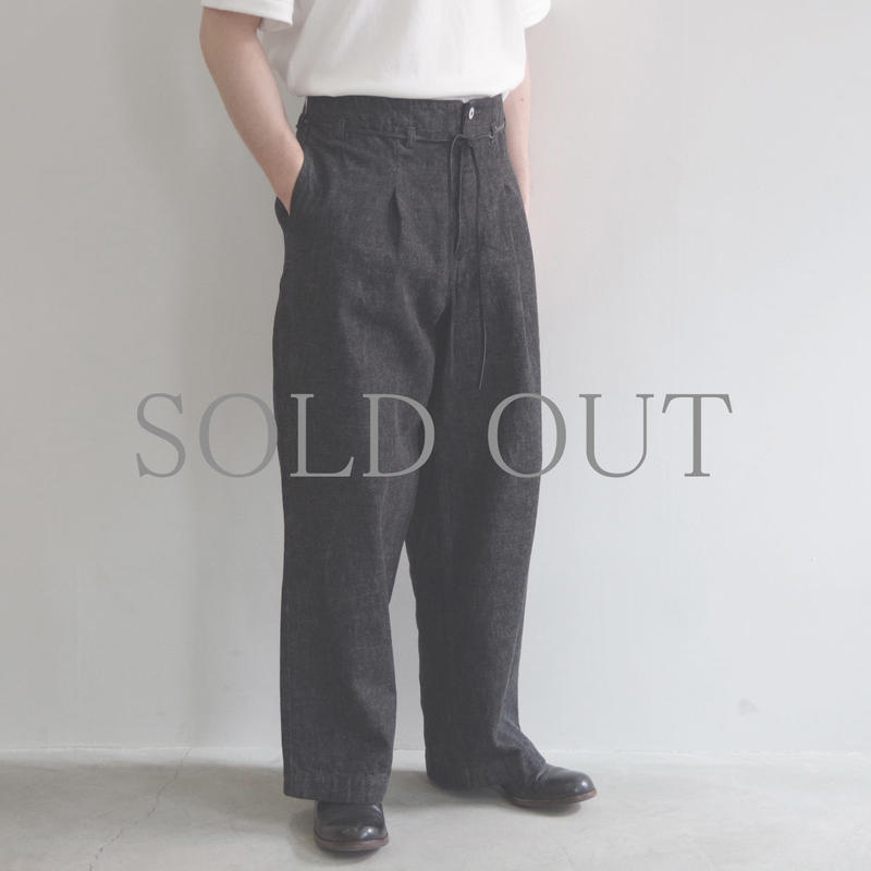 brassband / HI BACK DENIM PANTS / col.BLACK O.W / Men's