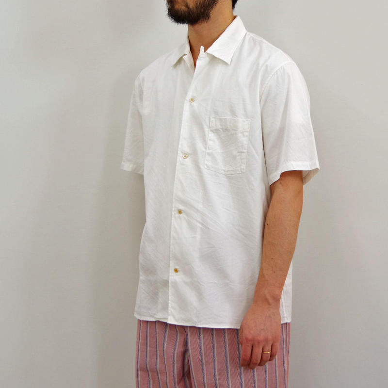 bunt / S/S OPEN COLLAR SHIRTS / col.ホワイト