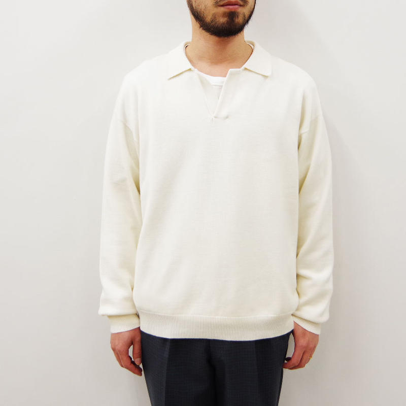 bunt / SKIPPER KNIT SHIRTS / col.オートミール