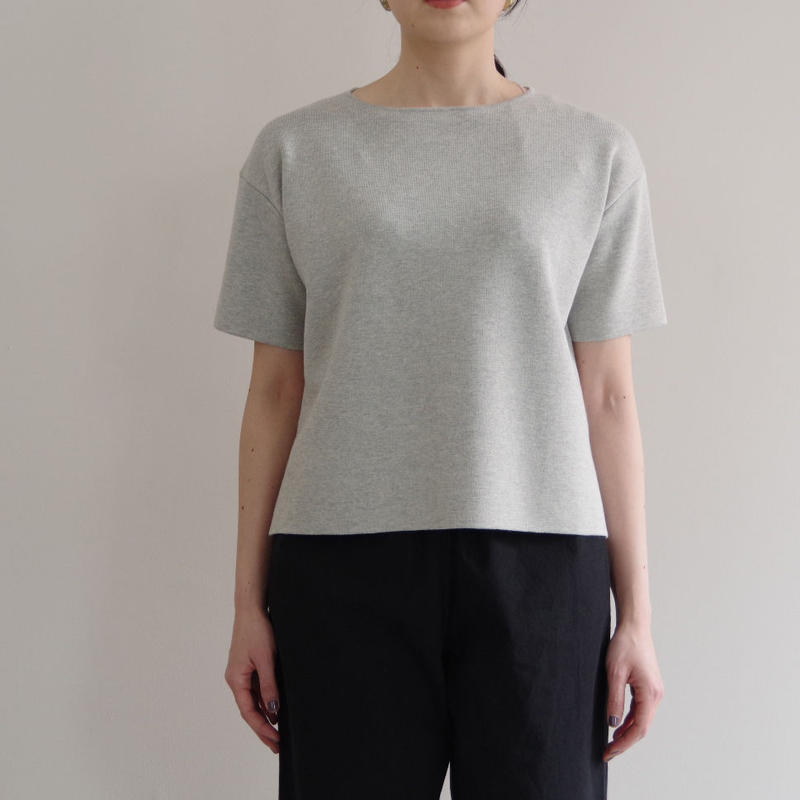 comm.arch. / MILAN RIB SELVEGE S/S  / col.CLOUDS / Lady's
