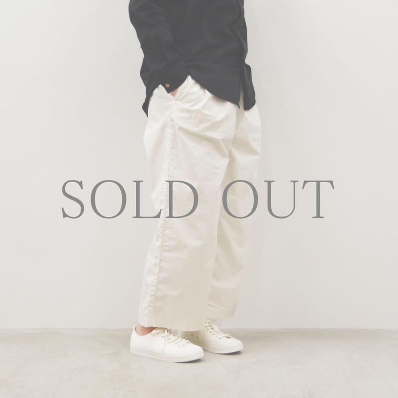 SETTO / DWP WIDE TUCK PANTS / col.アイボリー