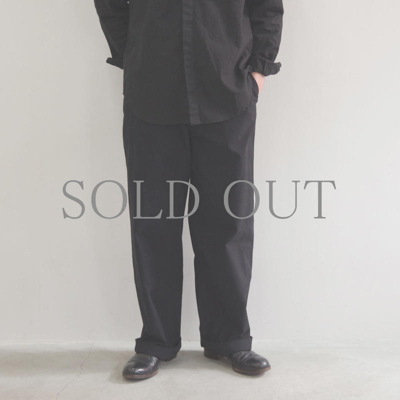 THE HINOKI / コットン馬布 ワイドパンツ / col.ブラック