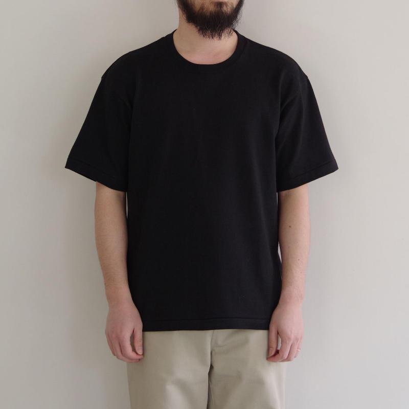 THE HINOKI / オーガニックコットンハーフスリーブTシャツ / col.ブラック