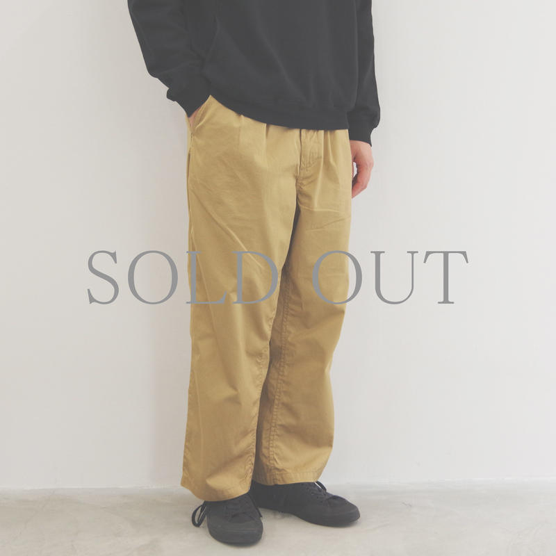 SETTO / GIZA COTTON WIDE TUCK PANTS