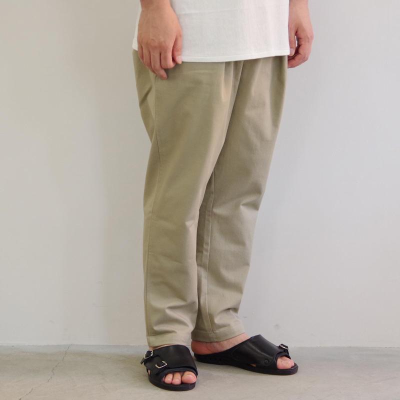 pssst,sir / sl002 slip pants / col.グレーベージュ / Men's