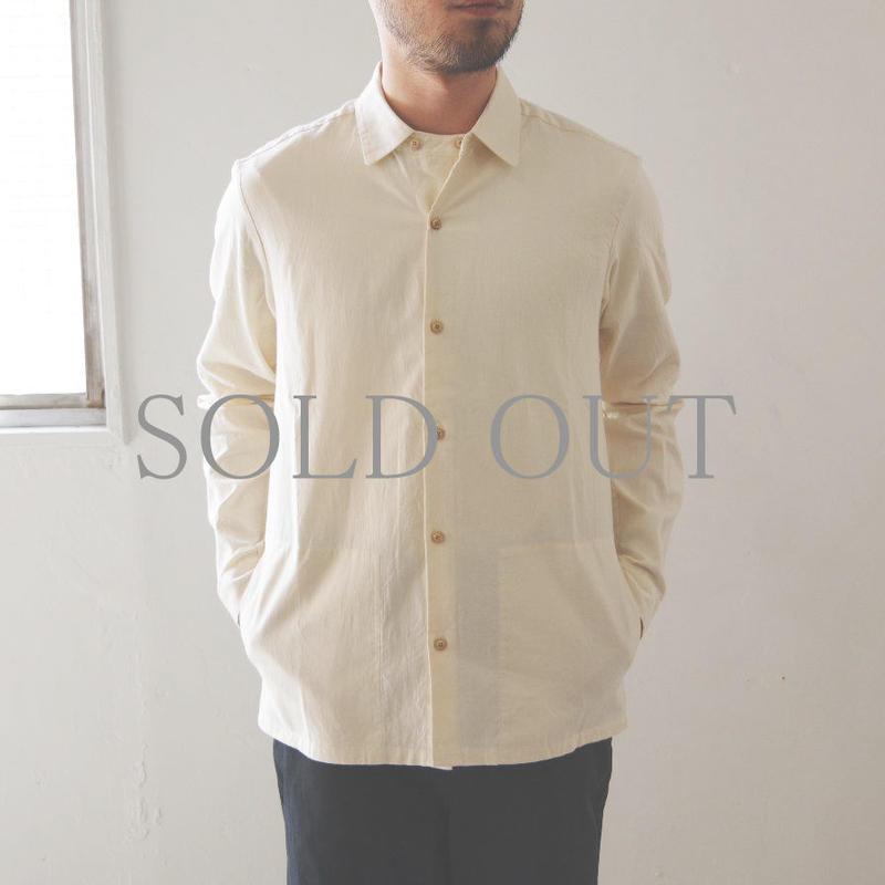THE HINOKI / オーガニックコットンオックスフォード ラウンドカラーシャツ / col.ナチュラル