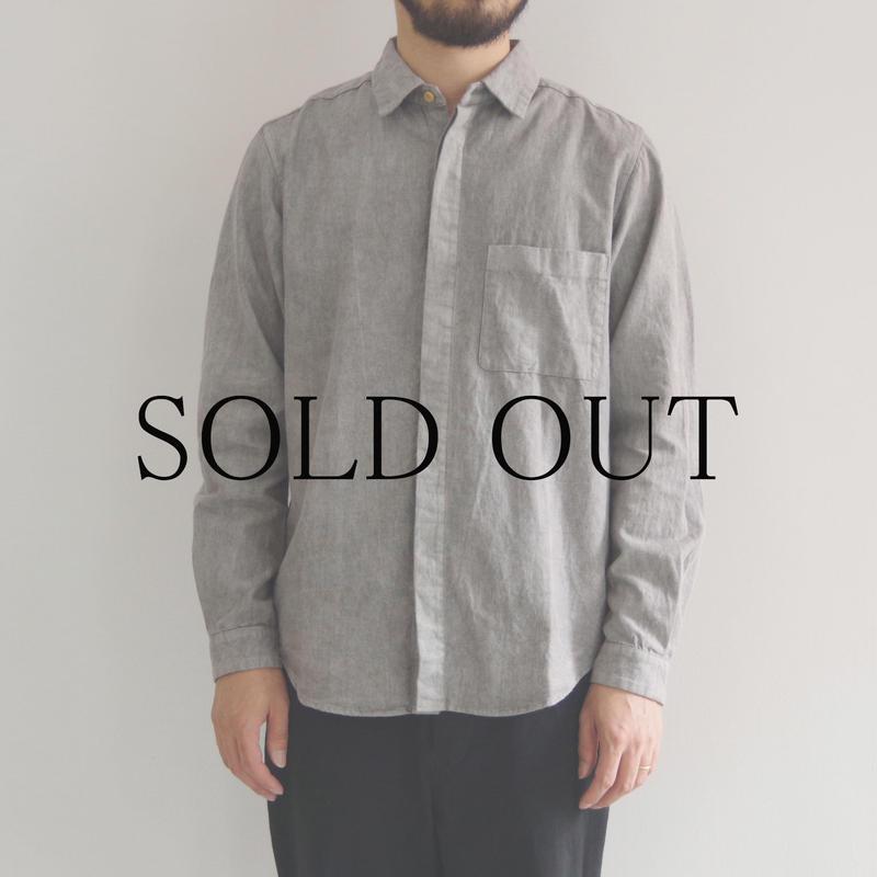 THE HINOKI / リネンコットンポケットワークシャツ / GRAY