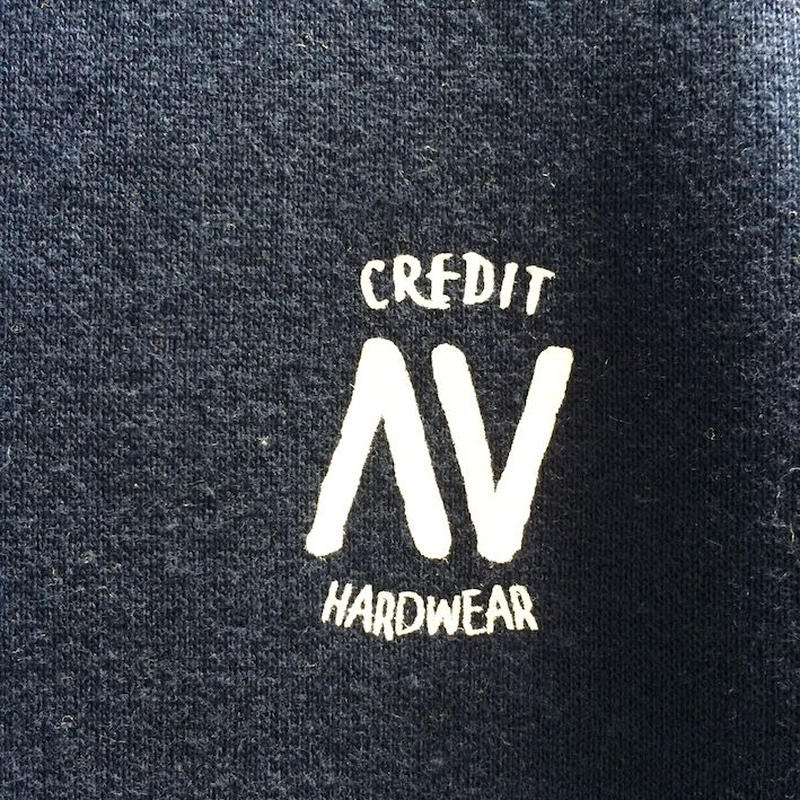 "CREDIT× AA ""CREW NECK"" SWEAT・Navy/ 撥水加工"