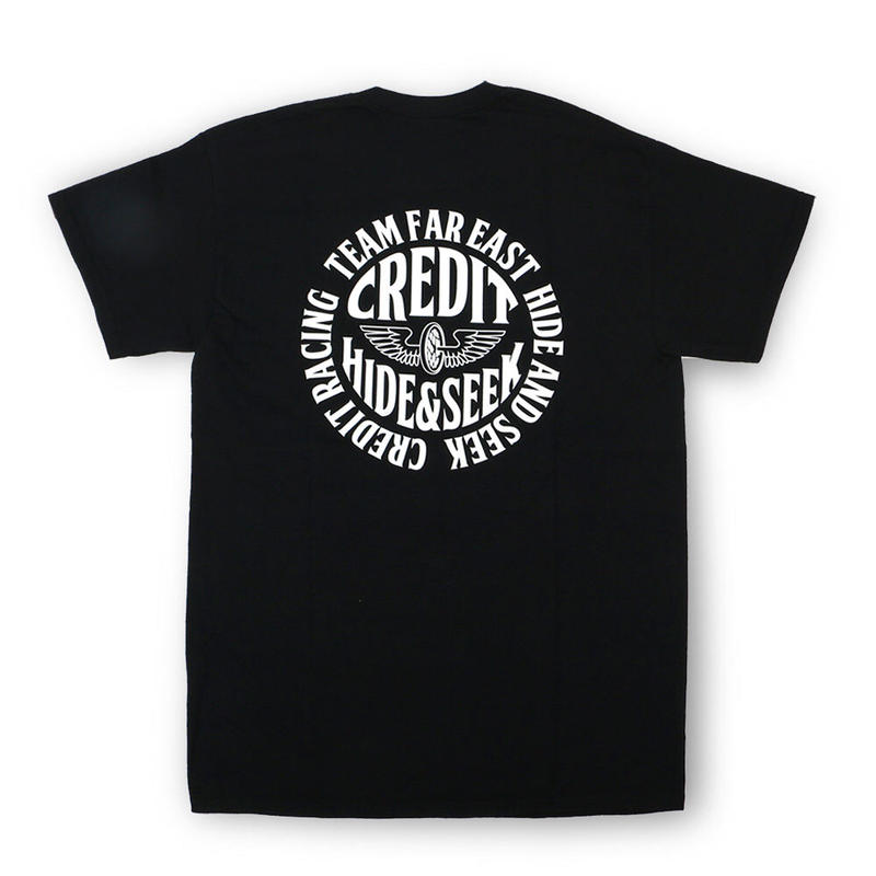 "HideandSeek × CREDIT  T-SHIRTS ""TEAM FAR EAST""・Black"
