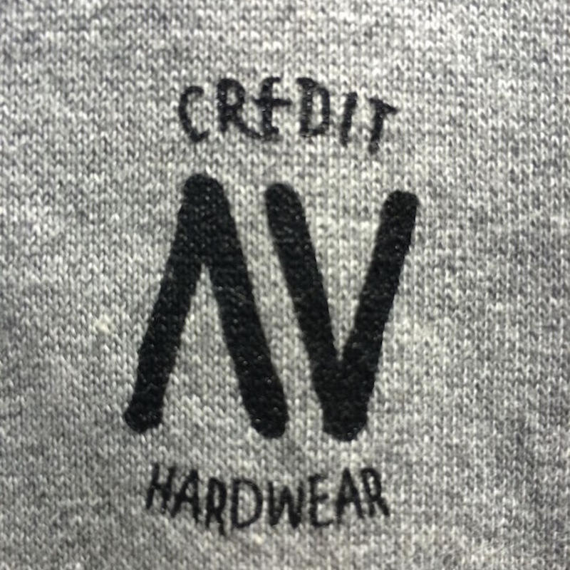 "CREDIT× AA ""CREW NECK"" SWEAT・Gray/ 撥水加工"