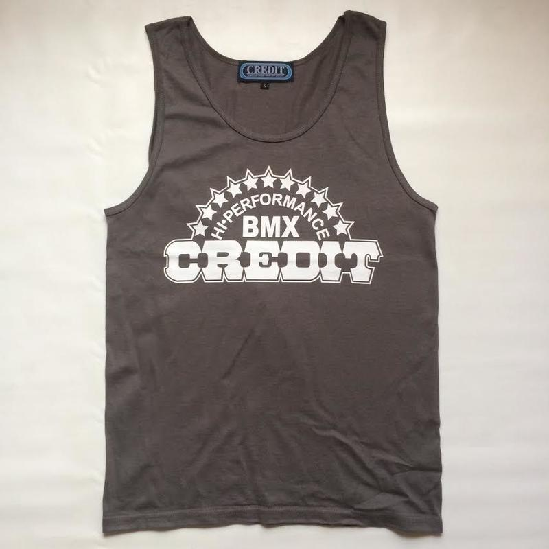 """CREDIT"" TANK-TOP・Charcoal"