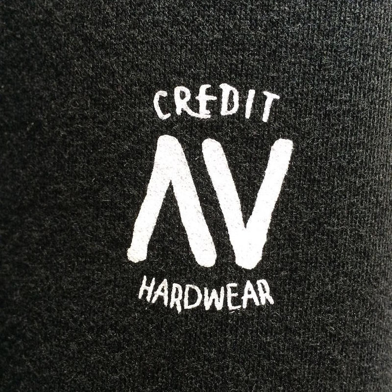 "CREDIT× AA ""CREW NECK"" SWEAT・Black/ 撥水加工"